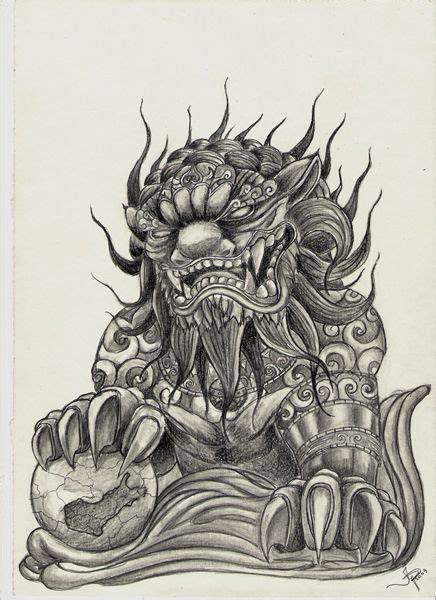 foo dog tattoo designs best 25 foo ideas on foo oni