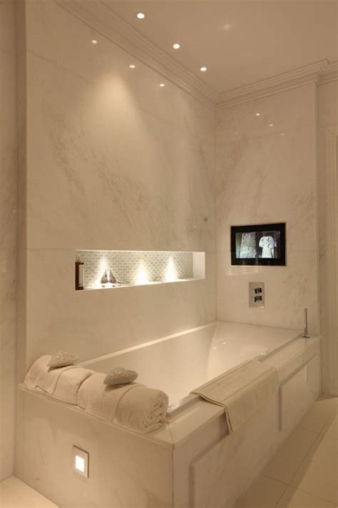 bathroom with tv exclusive bathroom led lighting to make your day