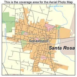 aerial photography map of sebastopol ca california