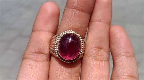 12 16 Ct Ruby Mirah Delima Memo batu cincin permata merah delima ruby asli kode