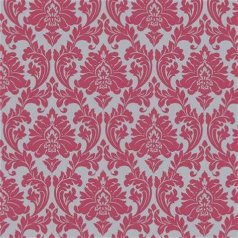 Pink Wallpaper Home Depot | graham brown 56 sq ft majestic hot pink wallpaper 30