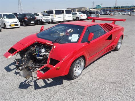 crashed lamborghini countach japan car auctions used car auction