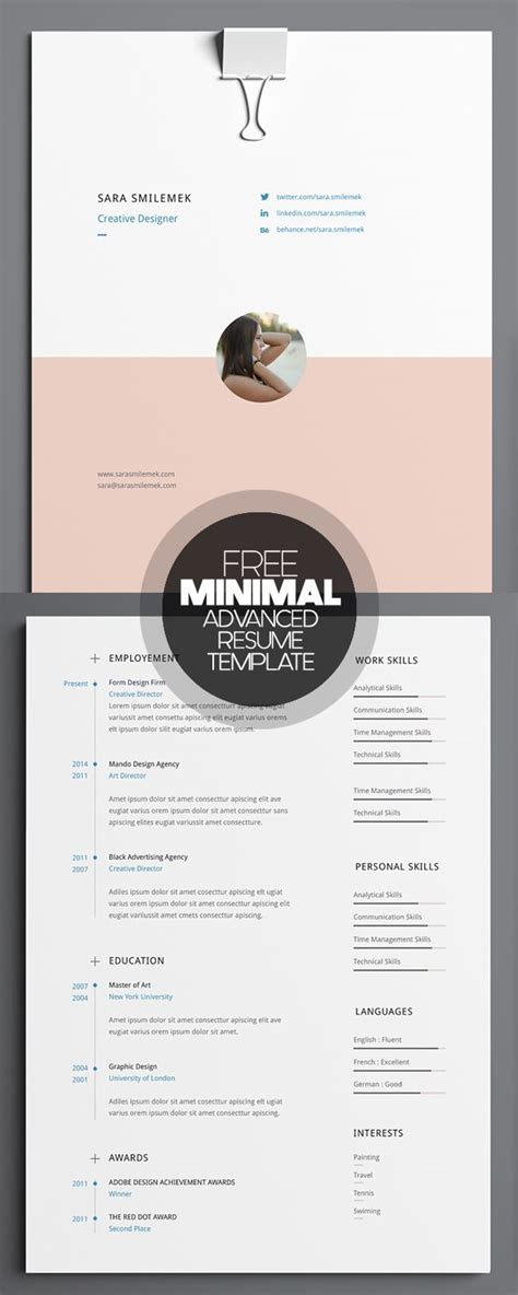 graphic resume template 35 infographic resume templates free
