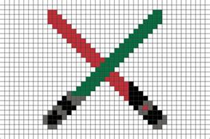 star wars light saber pixel art brik