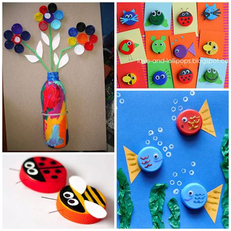 plastic bottle crafts for plastic bottle cap lid crafts for crafty morning