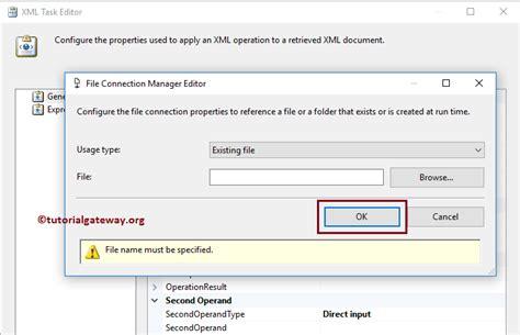 xml gateway tutorial ssis xml task to differentiate between xml files 14