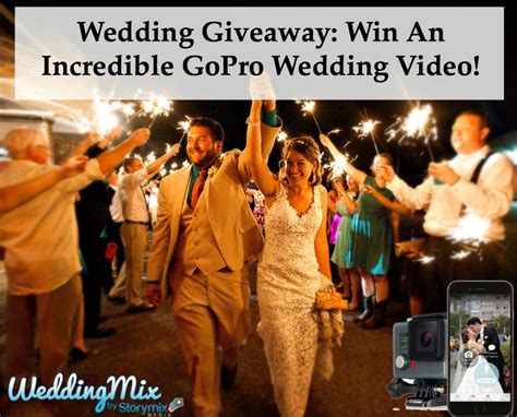 Gopro Giveaways - wedding giveaway win an incredible gopro wedding video