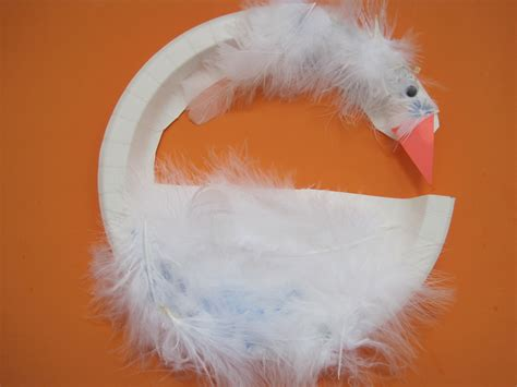 Swan Paper Craft - interfaith programs for children crafts