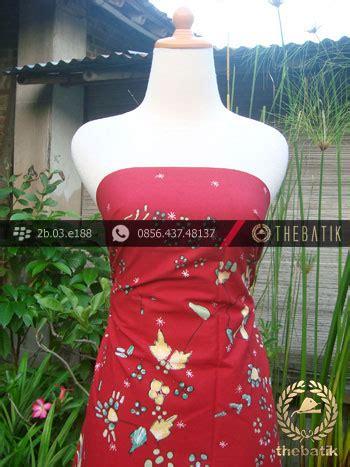 Kain Batik Tulis Latar Merah Jingga jual batik tulis cirebon motif burung latar merah hijau