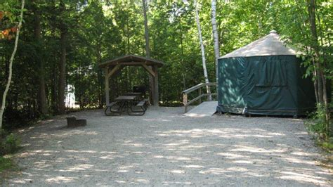 Picnic Chairs And Tables Roofed Accommodation At Ontario Parks