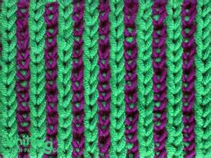 how to knit with two colors two color brioche stitch knitting stitch patterns
