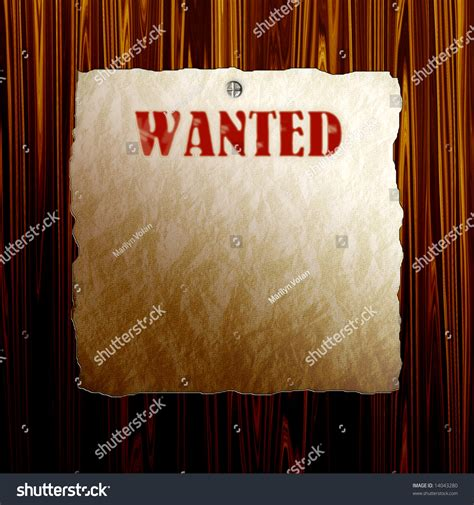 woodworker wanted wanted poster on wood stock photo 14043280