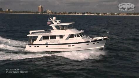 alaskan yachts  fast trawler yacht youtube
