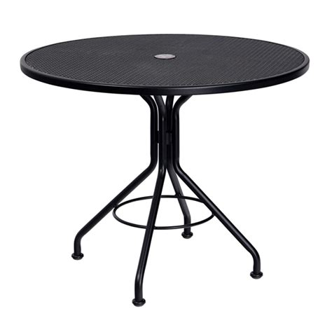 36 Inch Patio Table Woodard 36 Inch Contract Plus Wrought Iron Mesh Table 280135