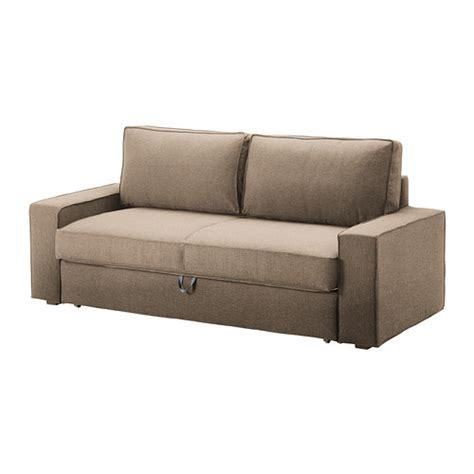 vilasund three seat sofa bed cover dansbo beige ikea