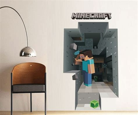 Termurah Sticker Harga Satuan detail harga newest minecraft wall stickers wallpaper room decal minecraft home decoration