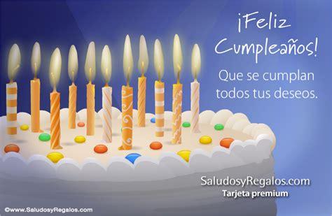 imagenes feliz dia de velitas tarjeta con imagen de torta y velas feliz cumplea 241 os