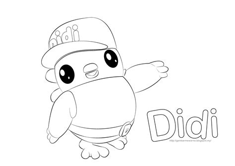 didi coloring page kids coloring pages gambar mewarna watak didi gambar mewarna colouring picture