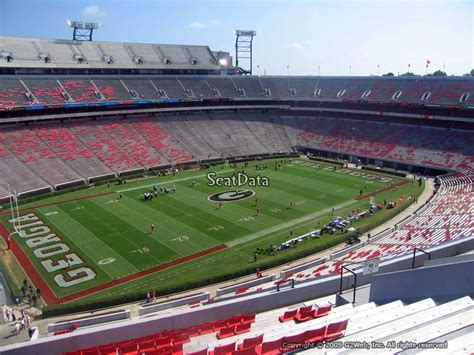 sanford stadium student section sanford stadium section 336 rateyourseats com