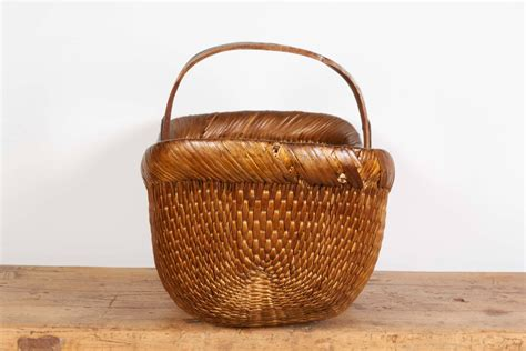 Handmade Baskets For Sale - antique handmade willow flower basket for sale at 1stdibs