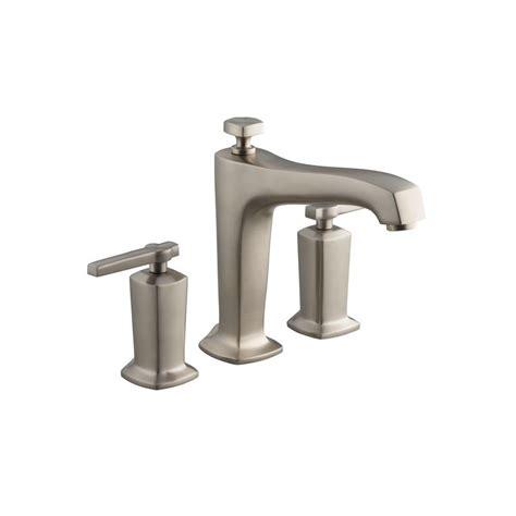 Kohler Margaux Faucet by Kohler Margaux 1 Handle Deck Mount High Flow Bath Faucet Trim Kit In Vibrant Brushed Nickel