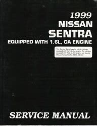 nissan sentra 1999 ga service manual download repair service manual pdf 1999 nissan sentra factory service manual