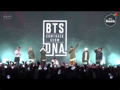 bts dna comeback show video 171030 bangtan bomb behind the stage of mic drop