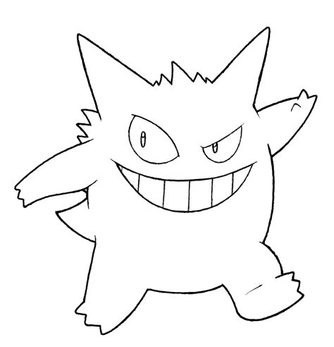 pokemon coloring pages gengar 094 gengar pokemon coloring page windingpathsart pokemon