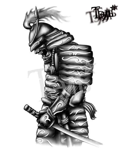 samurai tattoo design black and grey samurai design for forearm