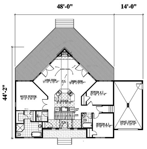 degree for home design house plans with garage at 45 degree angle