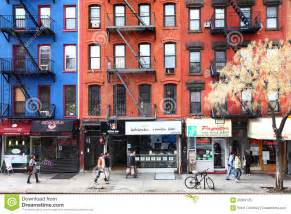 New york city manhattan street life in the downtown area examples of