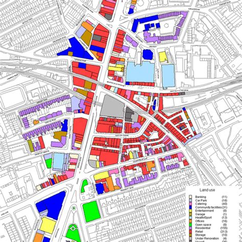 layout of land use space syntax land use brixton maps pinterest
