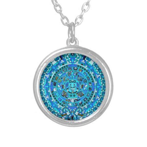 ancient mayan aztec calendar pendant necklace zazzle