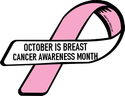 October Is Breast Cancer Awareness Month 2 by Custom Ribbon October Is Breast Cancer Awareness Month