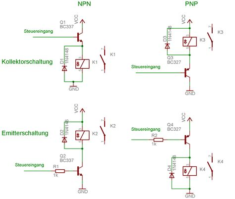 bipolar transistor grundschaltungen transistor mikrocontroller net