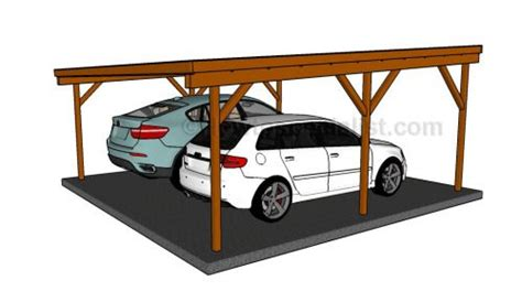 two car carport plans flat roof double carport plans wooden carport plans