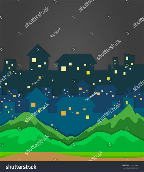 illustrator tutorial night scene illustrator city scene night time illustration stock vector 328493864