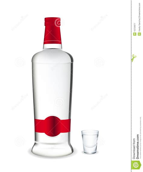 cartoon alcohol bottle vodka bottle and glass stock vector image of shades
