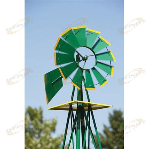 Garden Decoration Windmill by 8ft Green Metal Windmill Yard Garden Decoration Weather