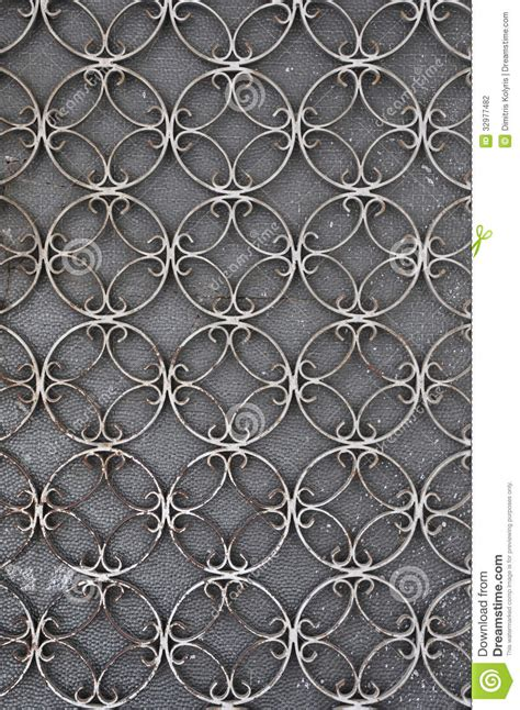 door pattern vintage iron door with circles pattern stock photo image 32977482