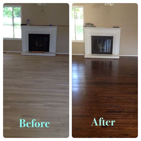 chocolate stained hardwood floors staining