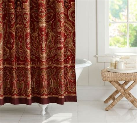 pottery barn shower curtains alice paisley shower curtain pottery barn bathroom