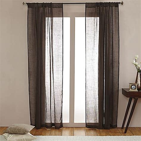 open weave drapes open weave linen sheer rod pocket window curtain panel