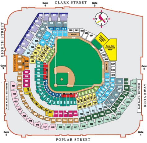 stl stadium seating chart seating chart st louis cardinals tickets