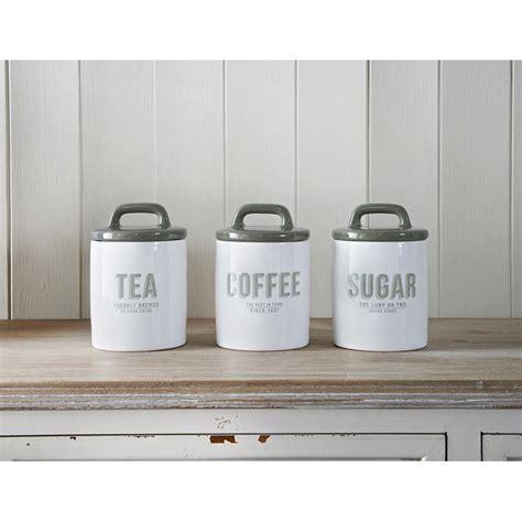 Retro Tea   Coffee   Sugar Set 3pc   Grey   Kitchenware