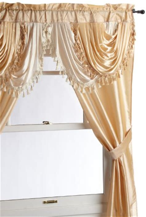 regal home collections drapes window 5 piece curtain set 2 panels tieback 54 quot x 84