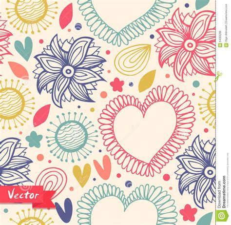 cute pattern material floral beauty seamless pattern on the light background