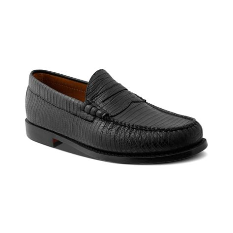 bass mens loafers bass larson 3 loafers in black for lyst