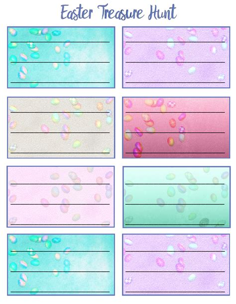 easter egg hunt map template free printable easter treasure hunt 24 mix match clue