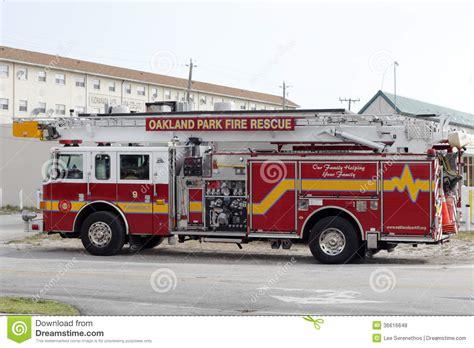 truck oakland oakland park rescue truck editorial stock photo
